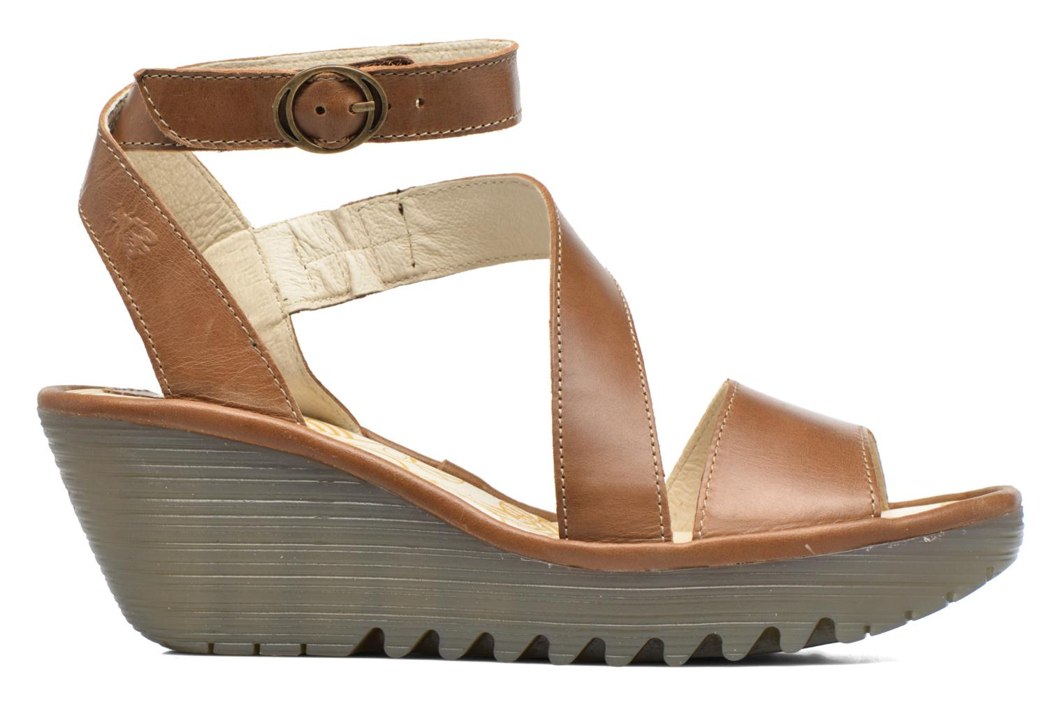 Sandals Fly London Yesk Brown back view