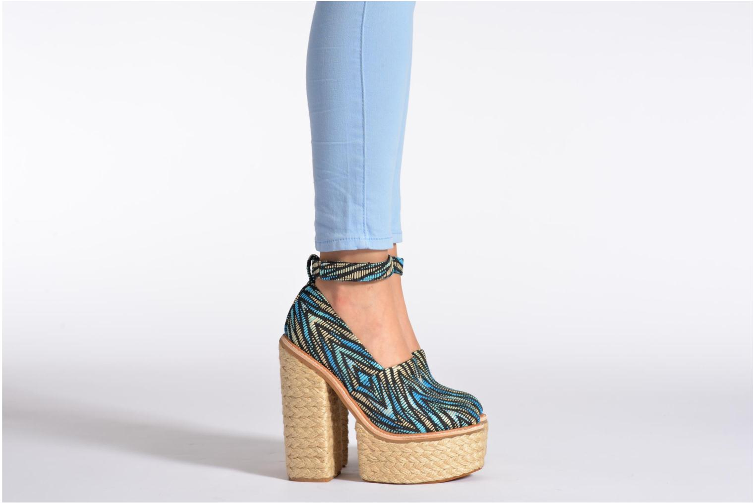 High heels Jeffrey Campbell SCULLY ESP Multicolor view from underneath / model view