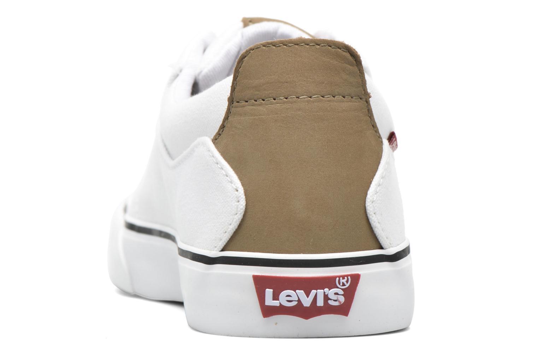 Deportivas Levi's Justin Low Lace Blanco vista lateral derecha