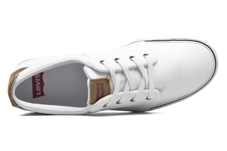 Sneaker Levi's Justin Low Lace weiß ansicht von links