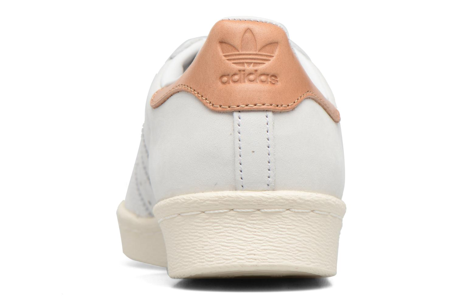 Trainers Adidas Originals Superstar 80S W Beige view from the right