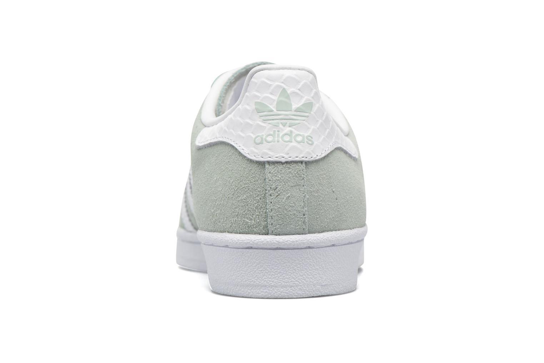 Baskets Adidas Originals Superstar W Vert vue droite