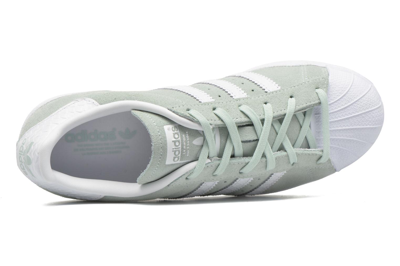 Baskets Adidas Originals Superstar W Vert vue gauche