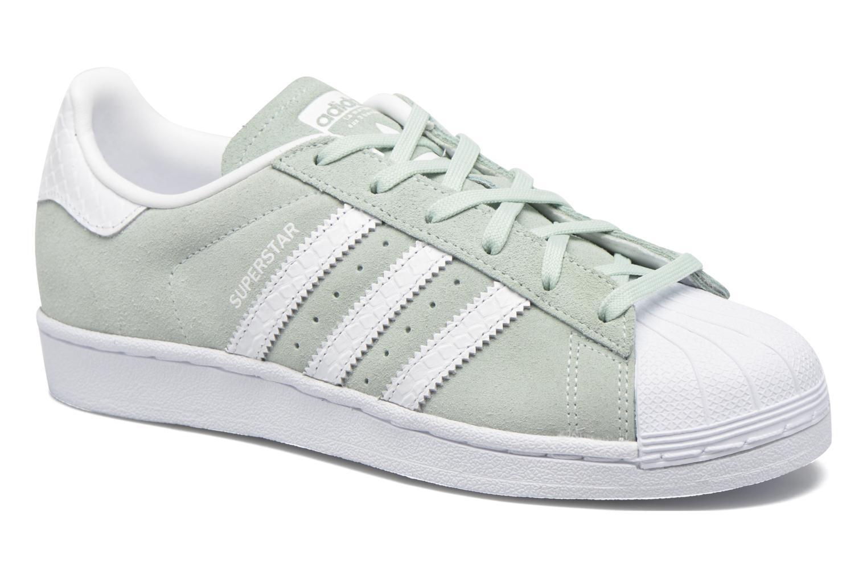 Baskets Adidas Originals Superstar W Vert vue détail/paire