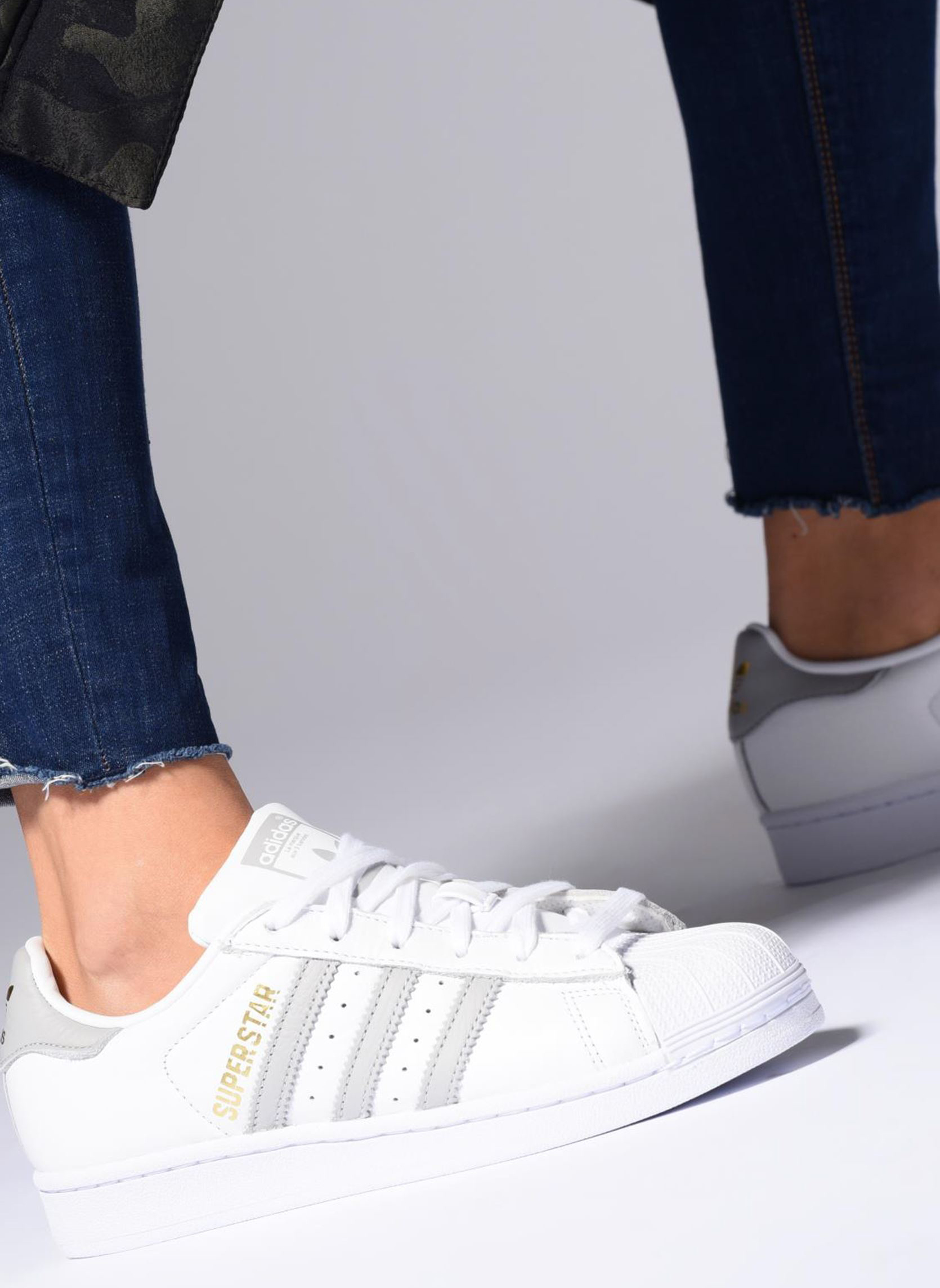 Sneakers Adidas Originals Superstar W Hvid se forneden