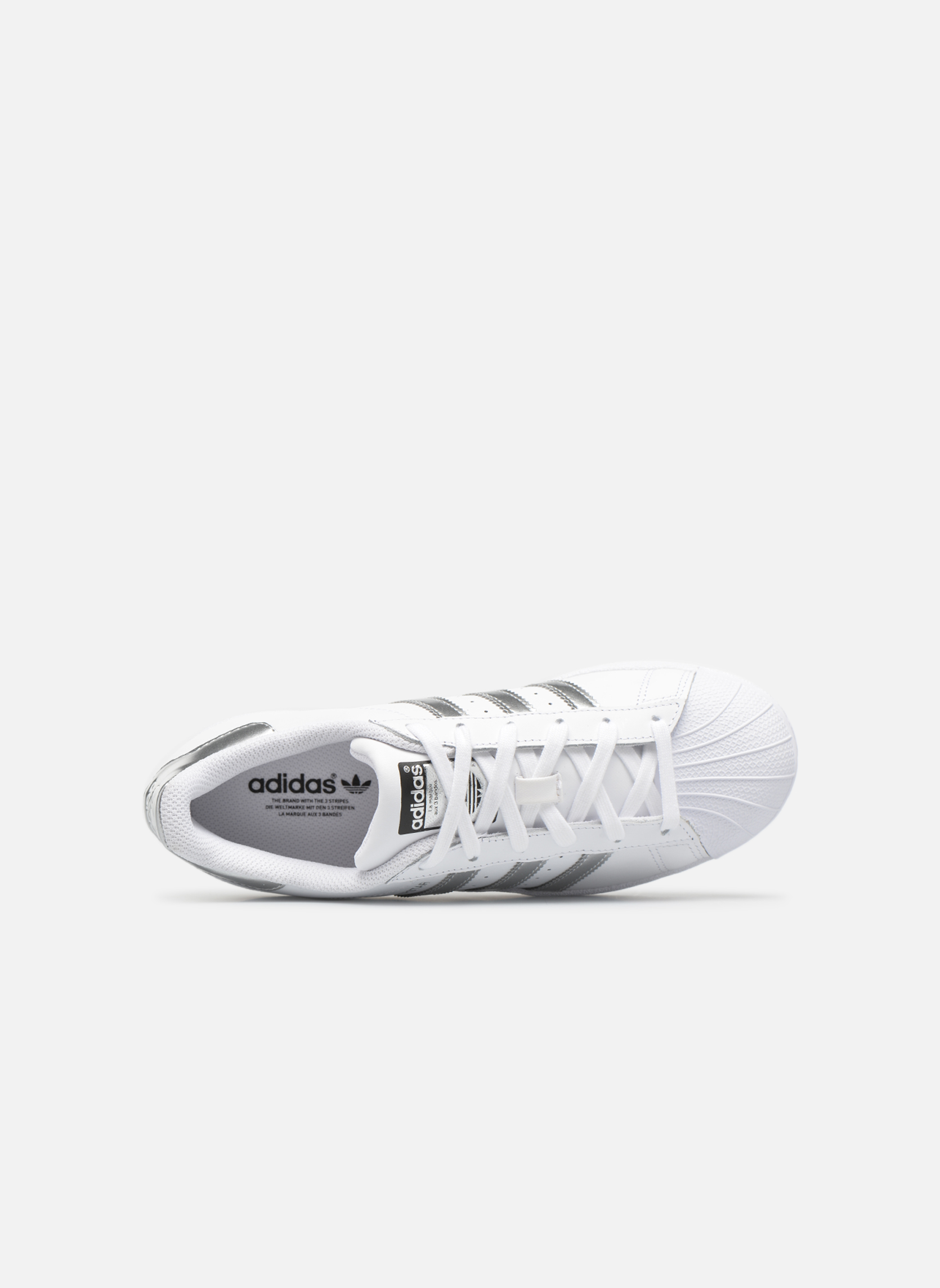 Sneaker Adidas Originals Superstar W weiß ansicht von links