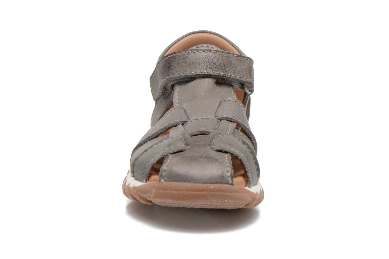 Sandales et nu-pieds Bisgaard Karen Gris vue portées chaussures