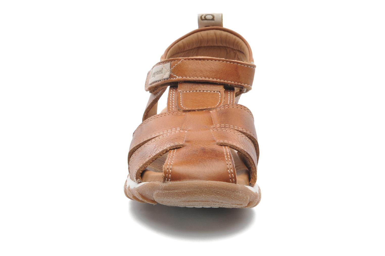 Sandales et nu-pieds Bisgaard Niels Marron vue portées chaussures