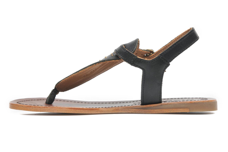 Sandales et nu-pieds Bisgaard Pia Noir vue face
