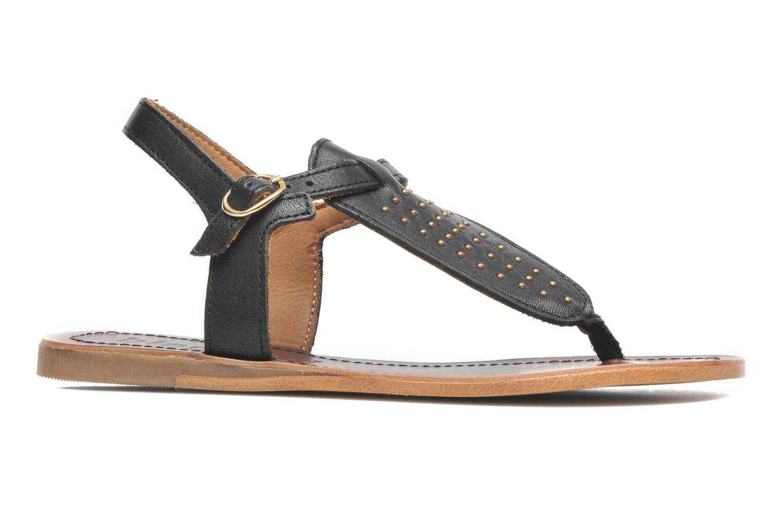 Sandales et nu-pieds Bisgaard Pia Noir vue derrière