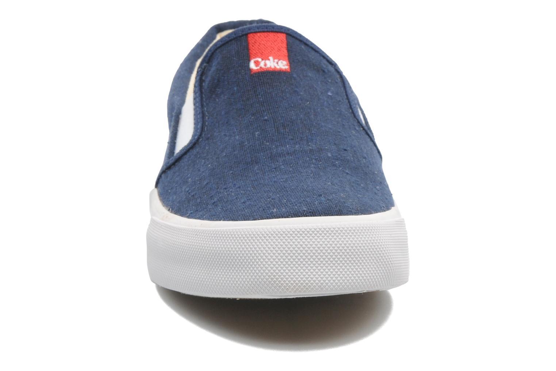 Baskets Coca-cola shoes Iate Bleu vue portées chaussures