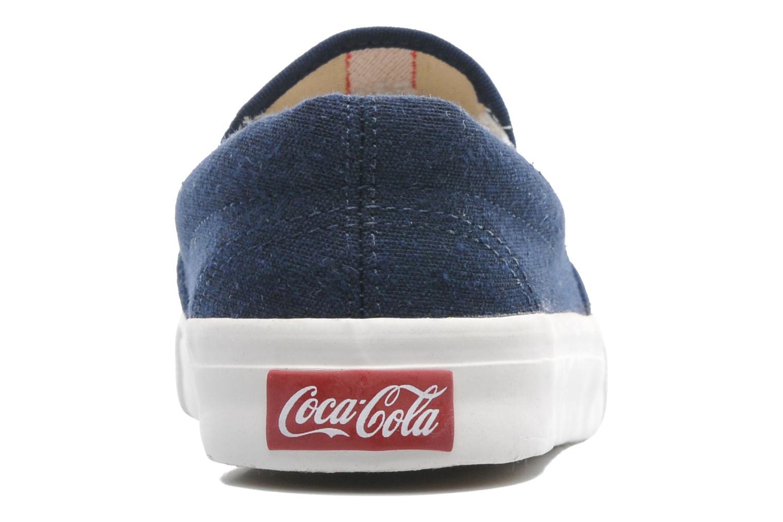 Deportivas Coca-cola shoes Iate Azul vista lateral derecha