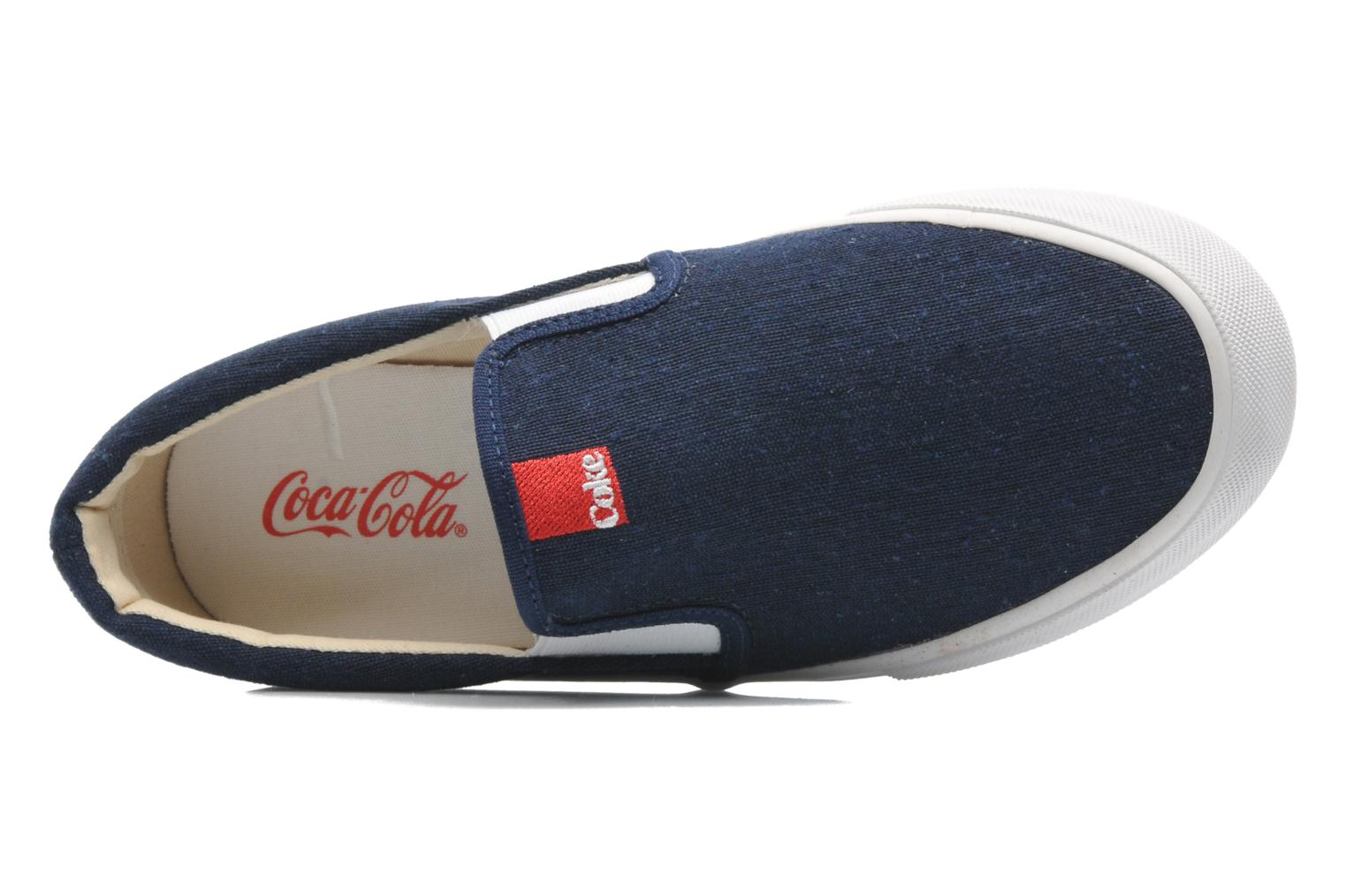 Trainers Coca-cola shoes Iate Blue view from the left
