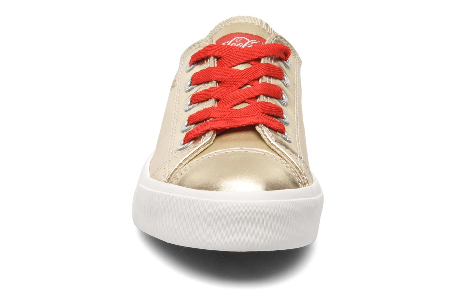 Trainers Coca-cola shoes Plain leather Low Bronze and Gold model view
