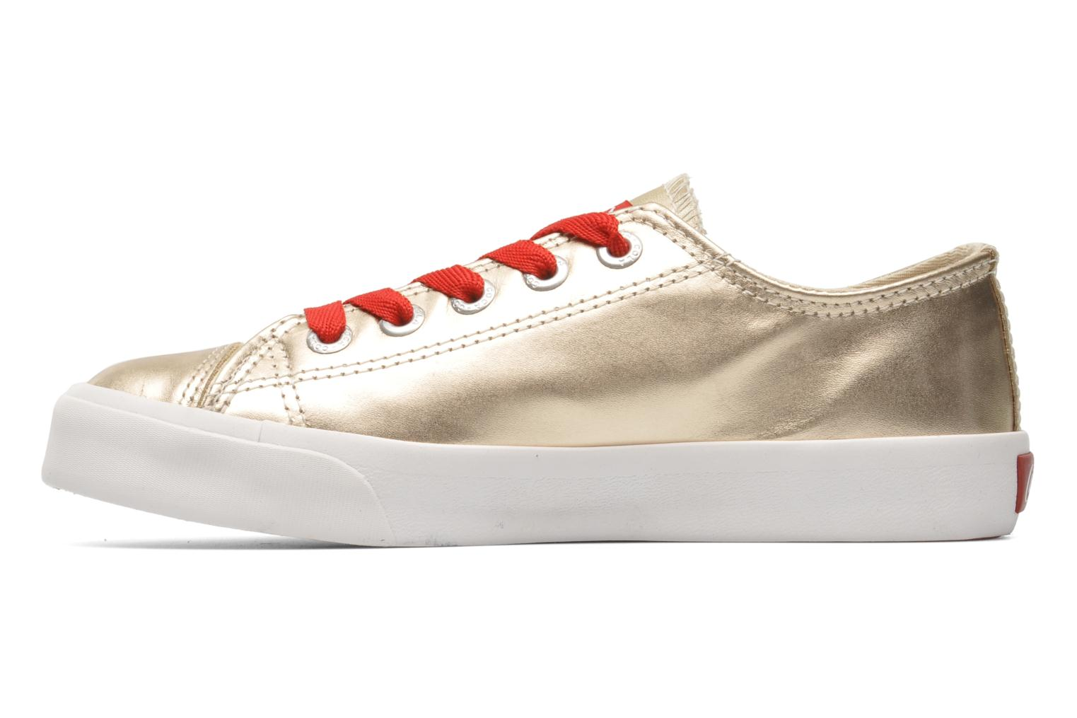 Trainers Coca-cola shoes Plain leather Low Bronze and Gold front view