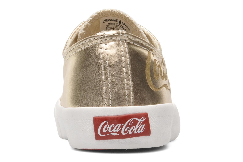 Sneakers Coca-cola shoes Plain leather Low Oro e bronzo immagine destra