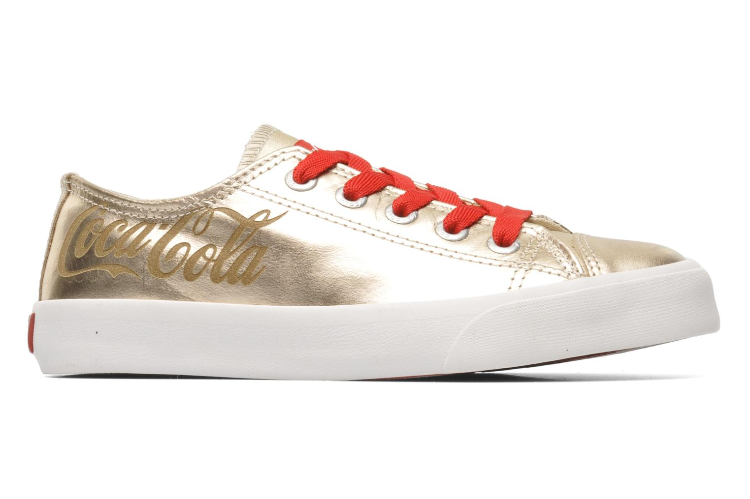 Trainers Coca-cola shoes Plain leather Low Bronze and Gold back view