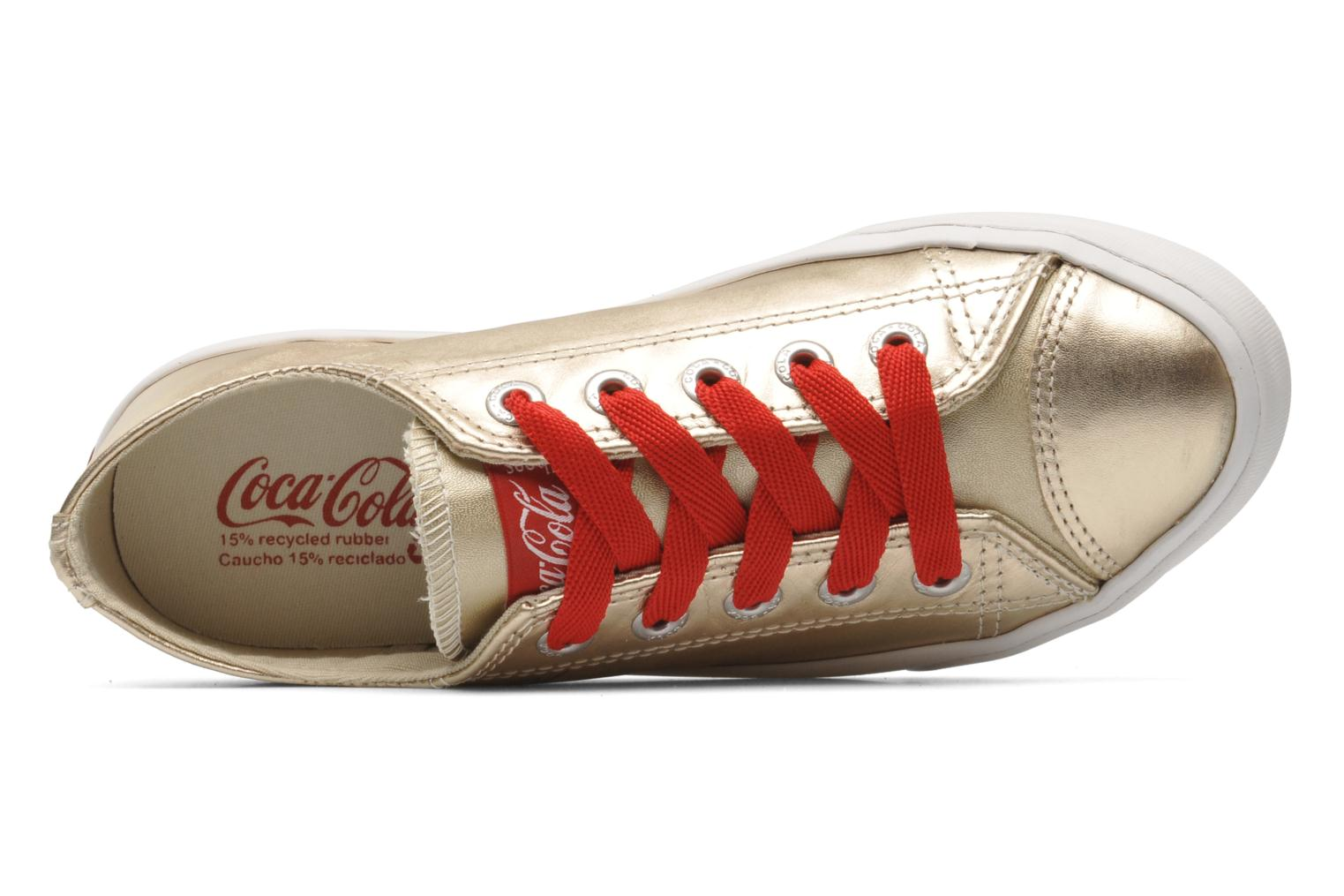 Trainers Coca-cola shoes Plain leather Low Bronze and Gold view from the left