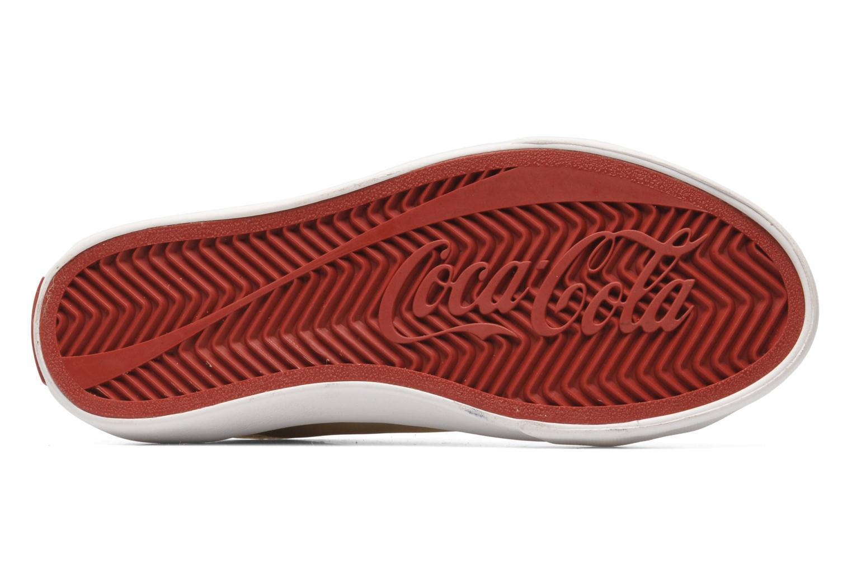 Sneakers Coca-cola shoes Plain leather Low Oro e bronzo immagine dall'alto
