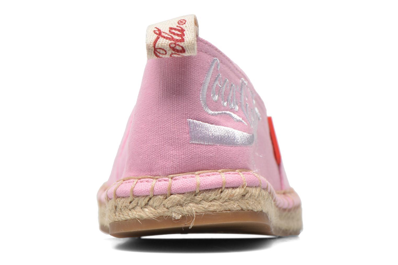 Espadrilles Coca-cola shoes Juta Classic W Rose vue droite