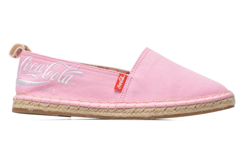 Espadrilles Coca-cola shoes Juta Classic W Rose vue derrière