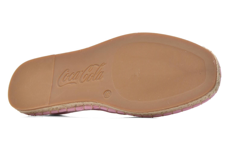 Espadrilles Coca-cola shoes Juta Classic W Rose vue haut