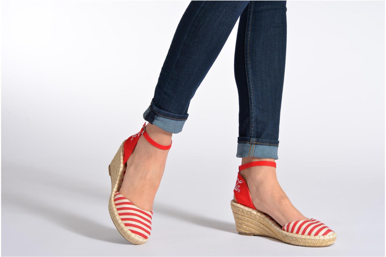 Sandalen Coca-cola shoes Juta City mehrfarbig ansicht von unten / tasche getragen