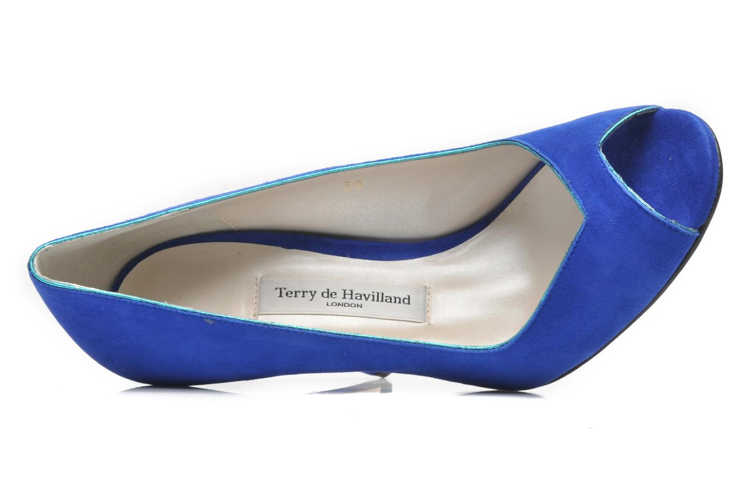 Pumps Terry de Havilland Chloe blau ansicht von links