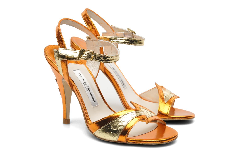 Sandals Terry de Havilland Ameena Orange 3/4 view