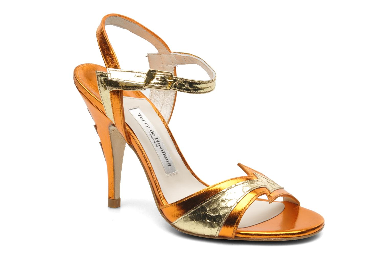 Sandals Terry de Havilland Ameena Orange detailed view/ Pair view