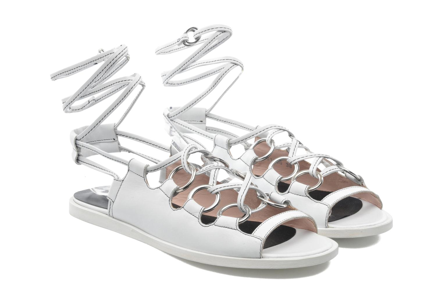 Sandals Opening Ceremony Kali multi ring lace up White 3/4 view