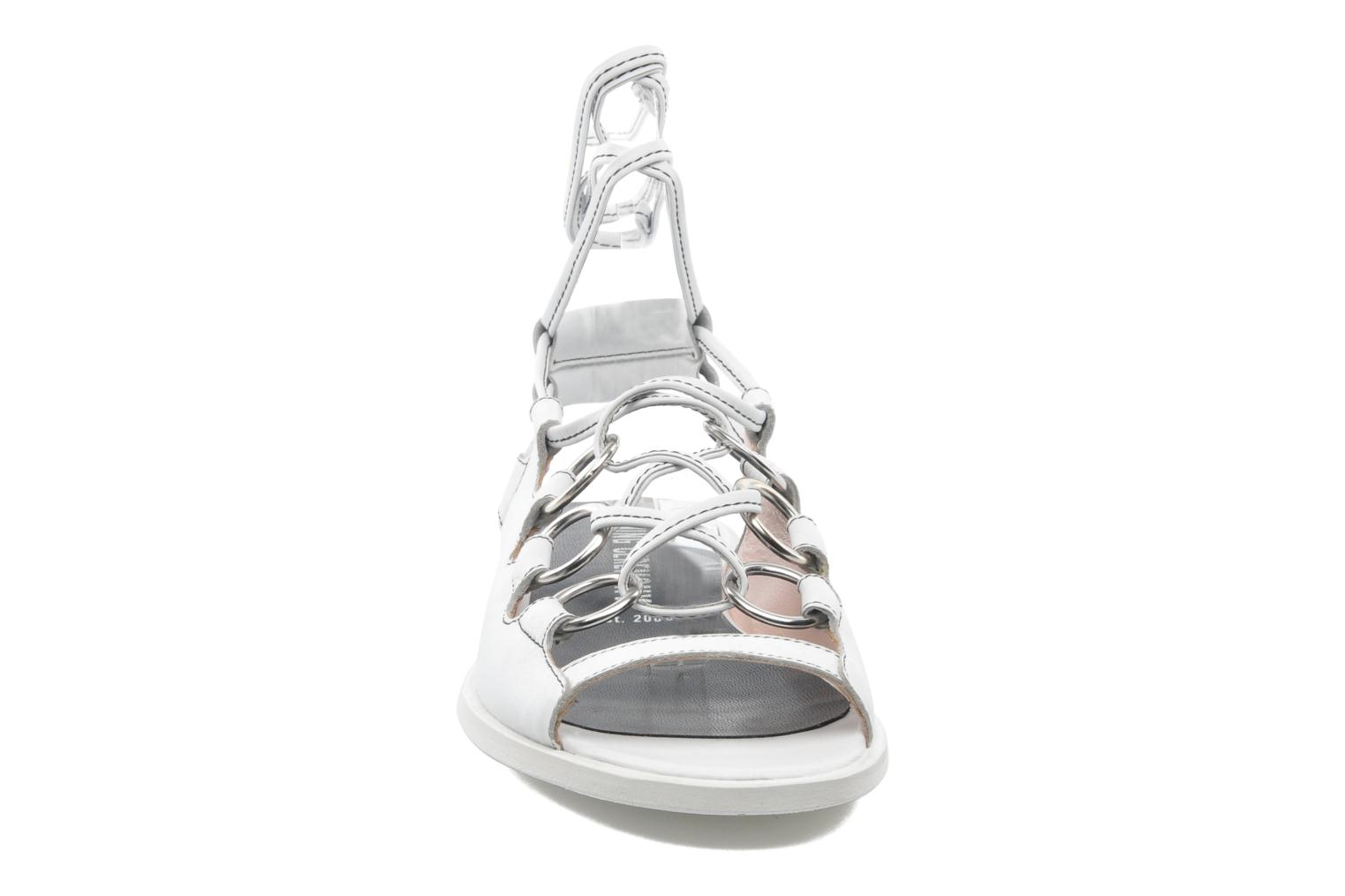 Sandals Opening Ceremony Kali multi ring lace up White model view