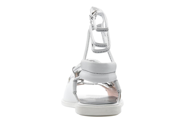 Sandales et nu-pieds Opening Ceremony Kali multi ring lace up Blanc vue droite