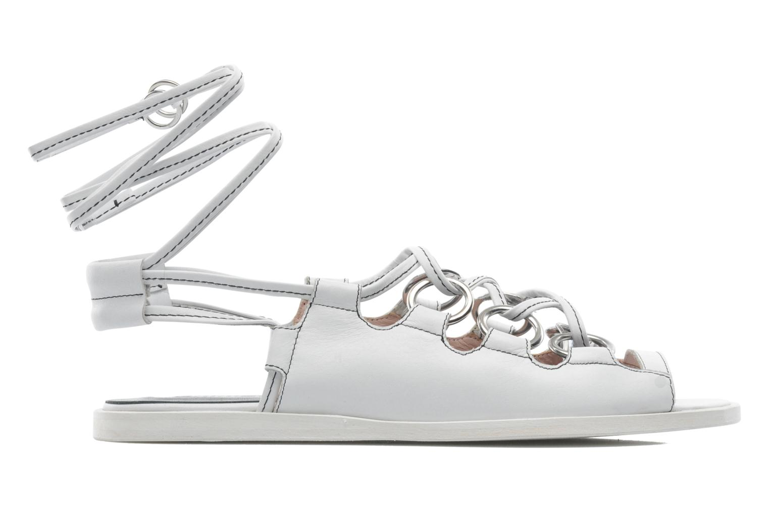 Sandals Opening Ceremony Kali multi ring lace up White back view