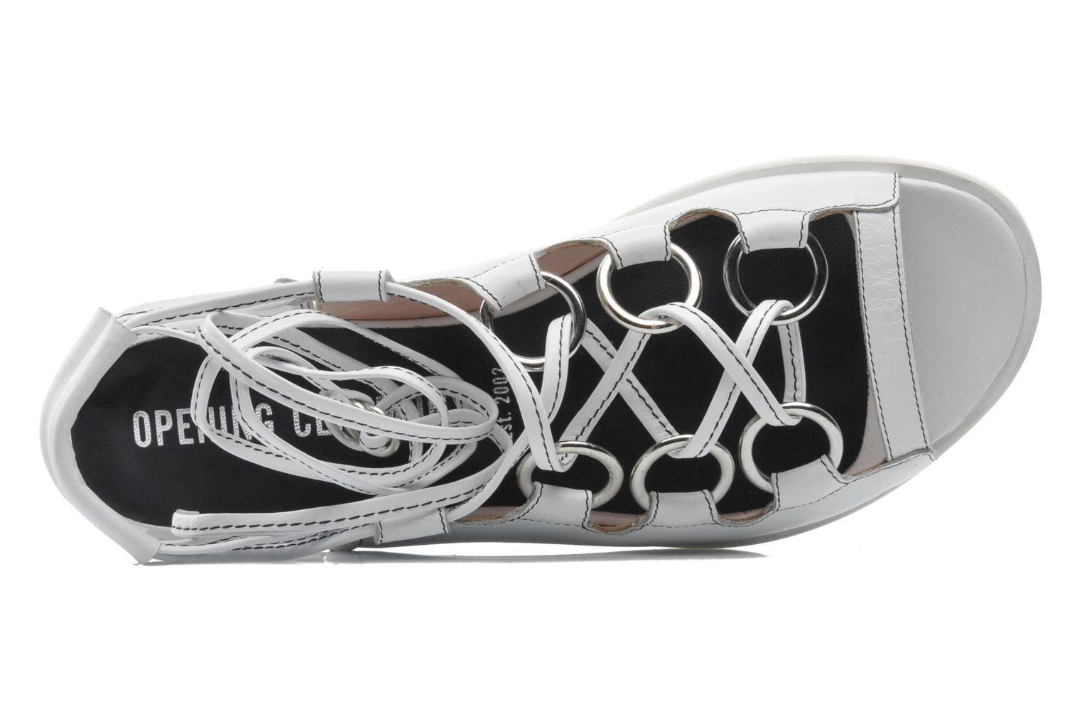 Sandals Opening Ceremony Kali multi ring lace up White view from the left