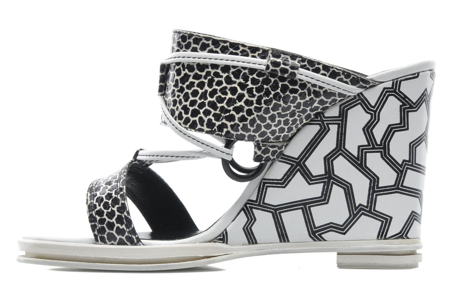 Mules et sabots Opening Ceremony Mae ankle strap wedge Blanc vue face