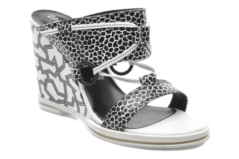 Clogs & Pantoletten Opening Ceremony Mae ankle strap wedge weiß detaillierte ansicht/modell