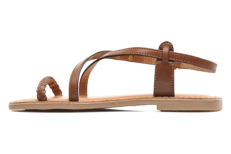 Sandales et nu-pieds Les Tropéziennes par M Belarbi Baladin Marron vue face