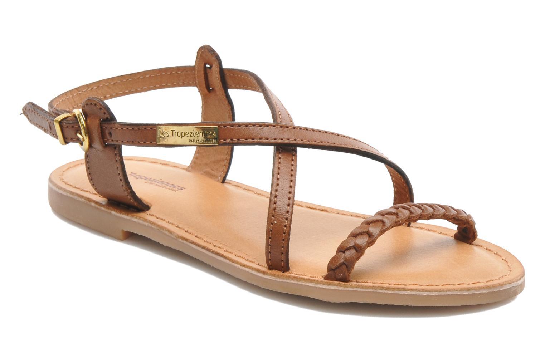 Sandales et nu-pieds Les Tropéziennes par M Belarbi Baladin Marron vue détail/paire