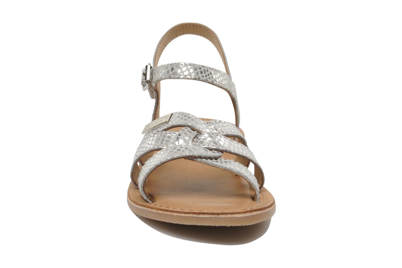 Sandalen Les Tropéziennes par M Belarbi Betise silber schuhe getragen