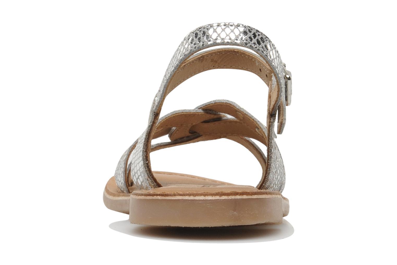 Sandalen Les Tropéziennes par M Belarbi Betise silber ansicht von rechts