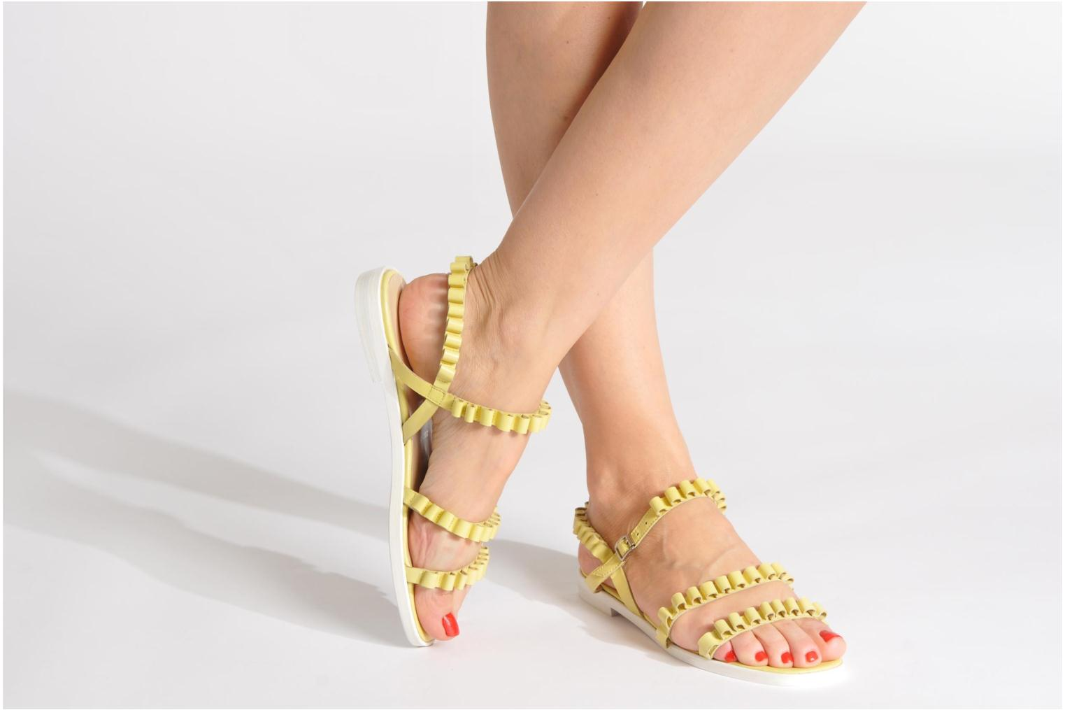 Sandals Opening Ceremony Mazzy sandal Yellow view from underneath / model view