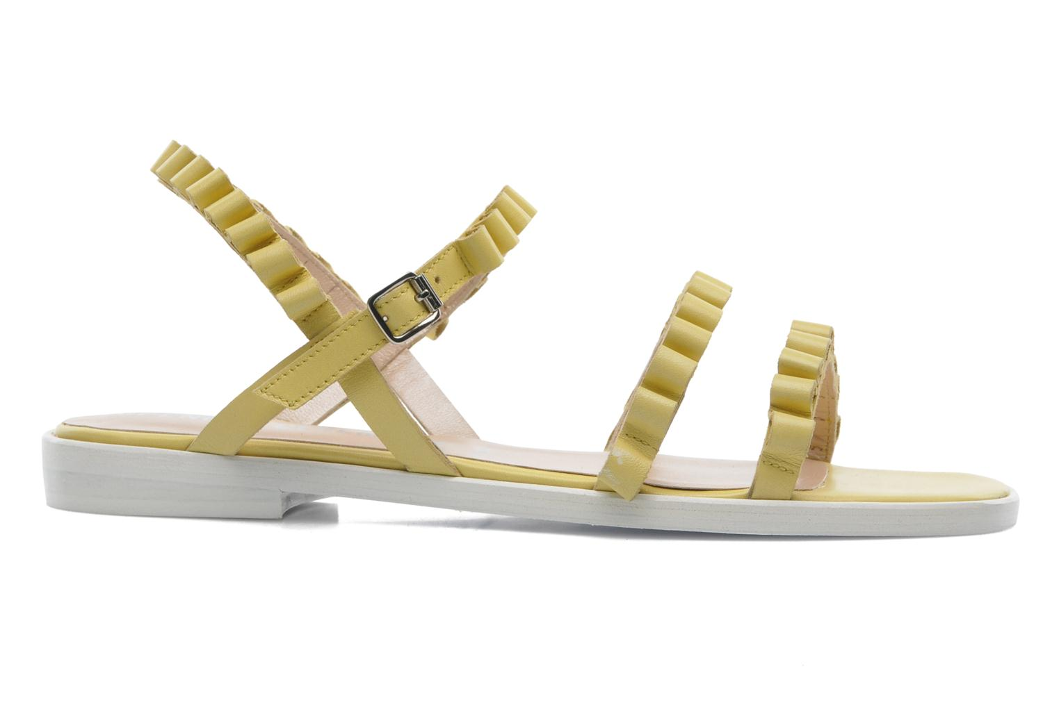 Sandals Opening Ceremony Mazzy sandal Yellow back view