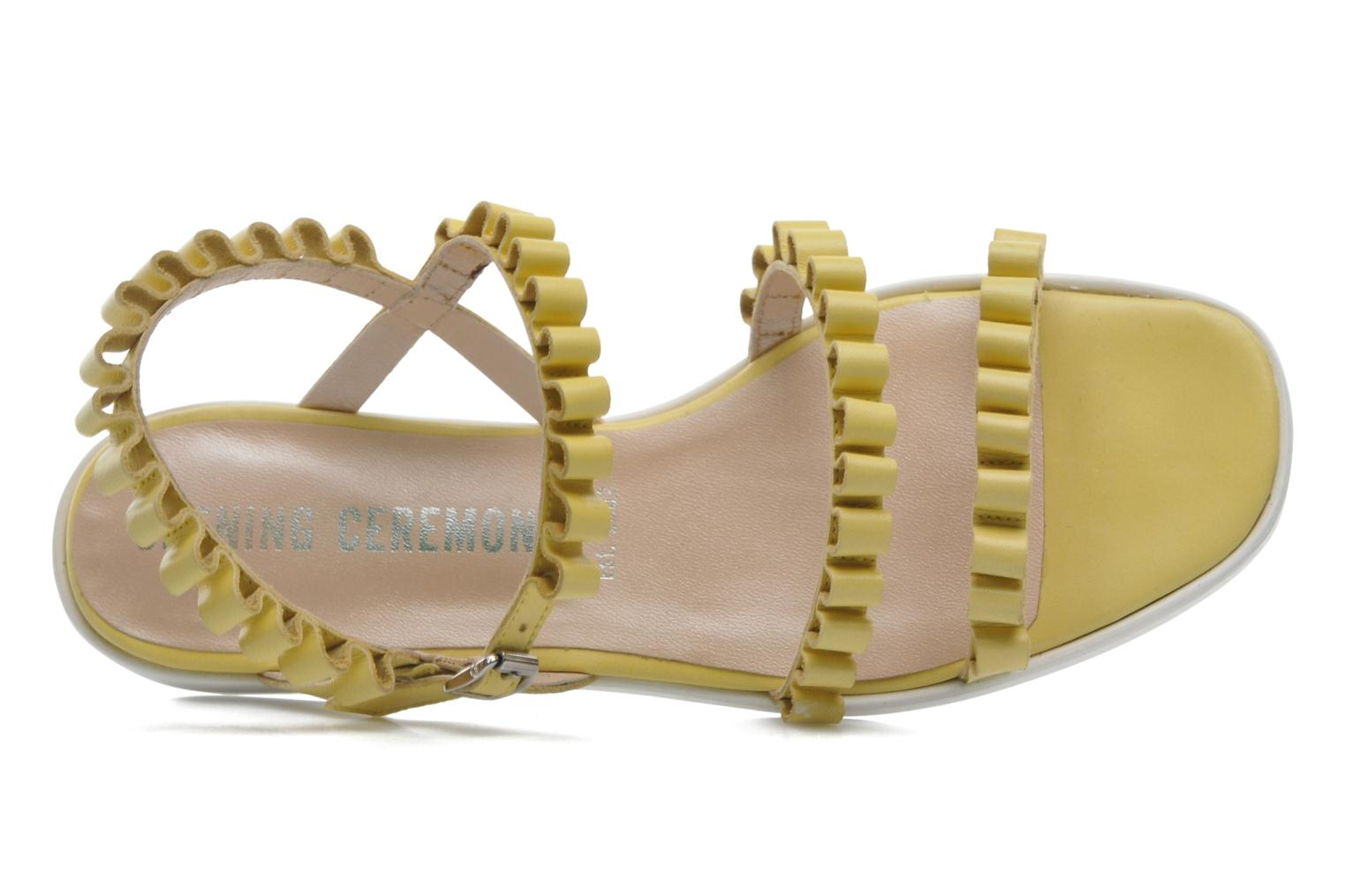 Sandals Opening Ceremony Mazzy sandal Yellow view from the left