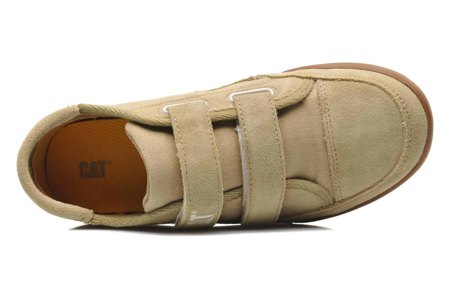 Trainers Caterpillar Free Agent Beige view from the left