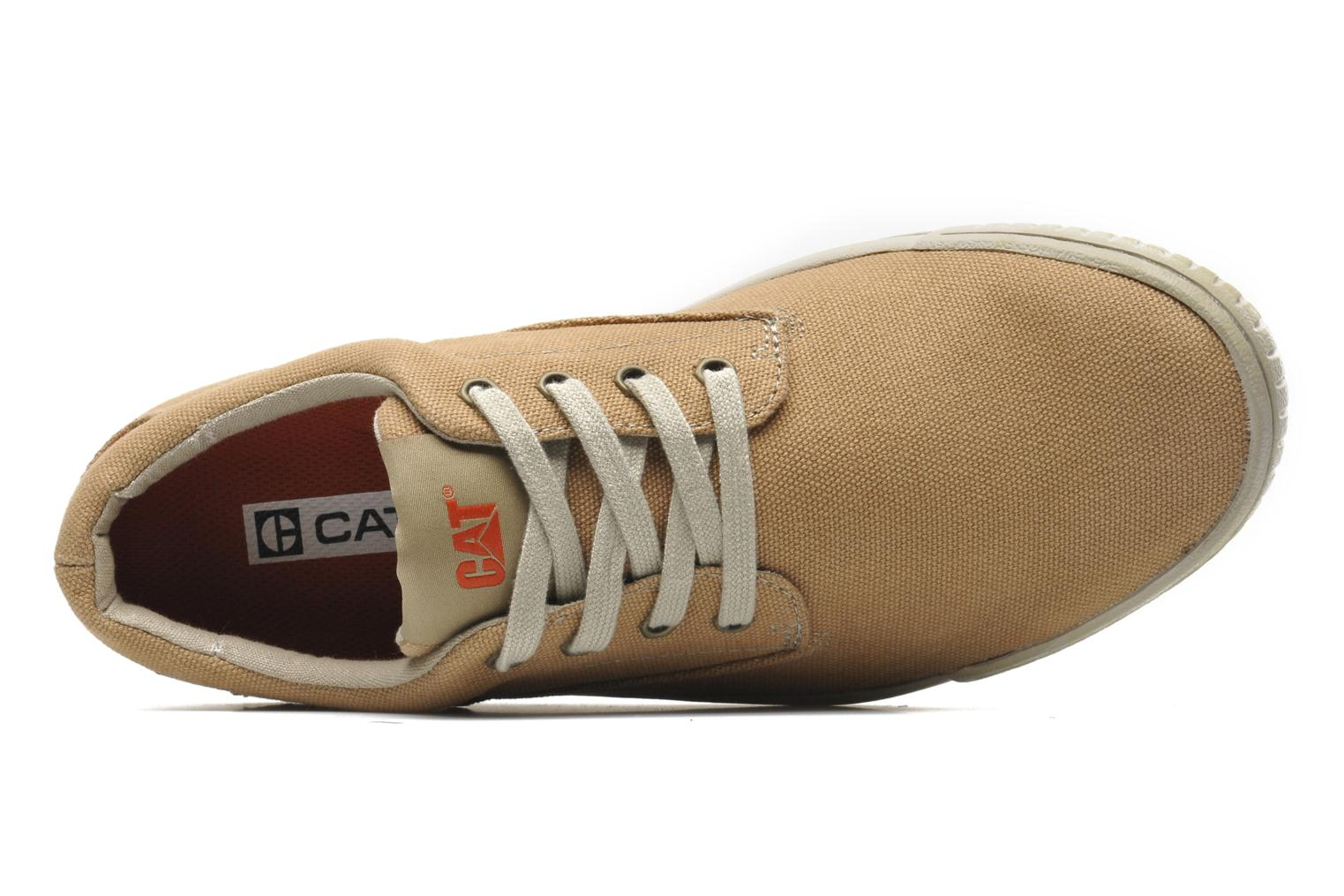 Trainers Caterpillar Zimzala canvas Beige view from the left