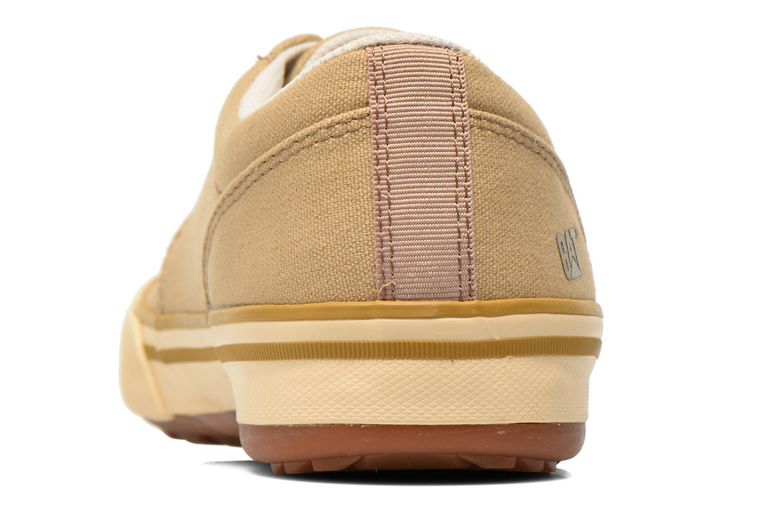 Trainers Caterpillar Esteem canvas Beige view from the right