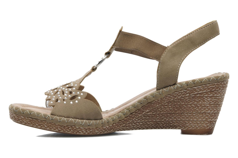 Sandalen Remonte Pipo D6756 beige ansicht von vorne