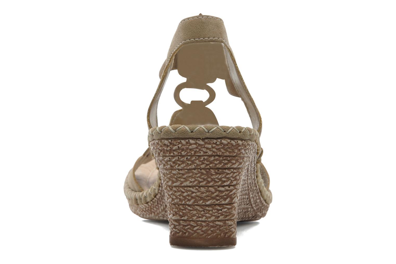 Sandales et nu-pieds Remonte Pipo D6756 Beige vue droite