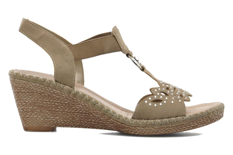 Sandales et nu-pieds Remonte Pipo D6756 Beige vue derrière